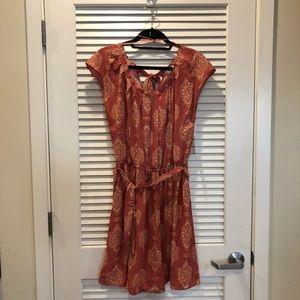 NWT LC Lauren Conrad Smocked Waist Pleated Dress